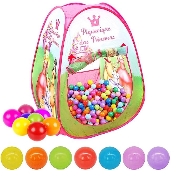 Barraca Infantil Piquenique das Princesas com 50 bolinhas Dm Toys