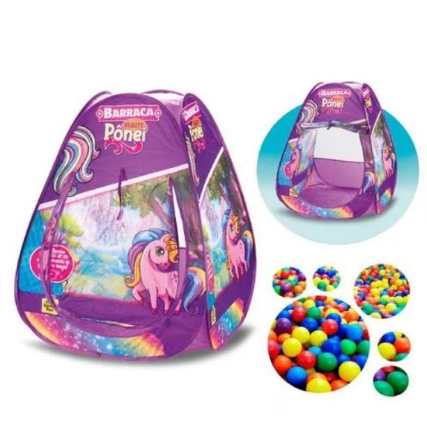 Barraca Infantil Pônei com 100 bolinhas Samba Toys