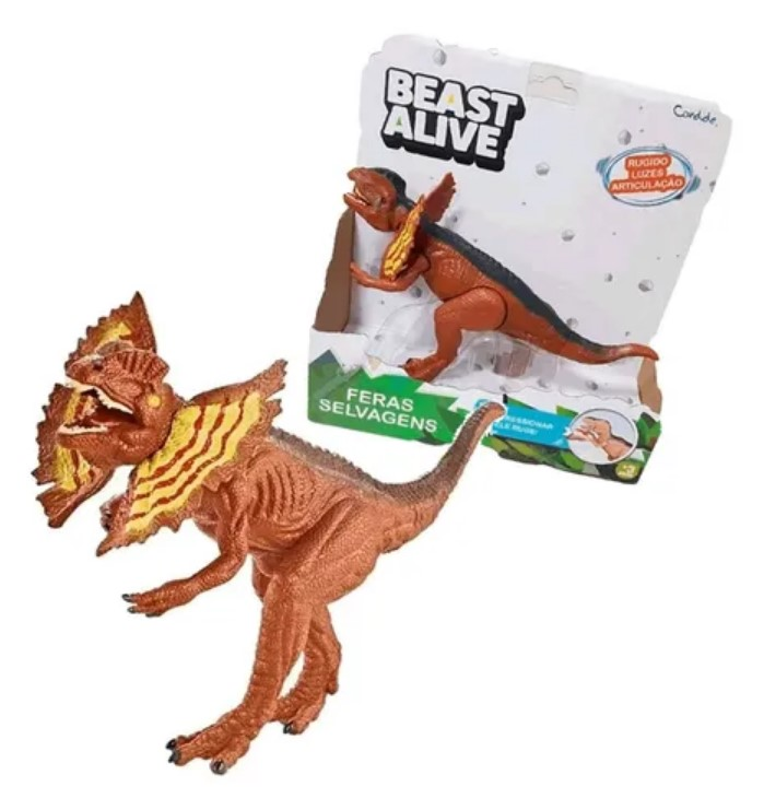 Beast Alive Feras Selvagens Som E Luz Dilofosauro