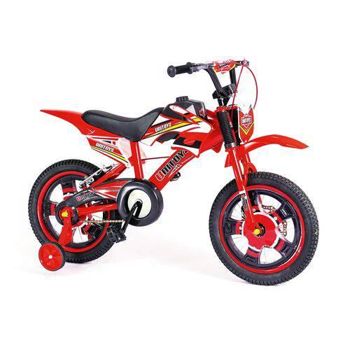Bicicleta Infantil Bike Moto Aro 16 Vermelha-Unitoys-1172