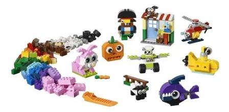 Blocos de Montar Lego Classic Pecas e Olhos 11003 451 peças