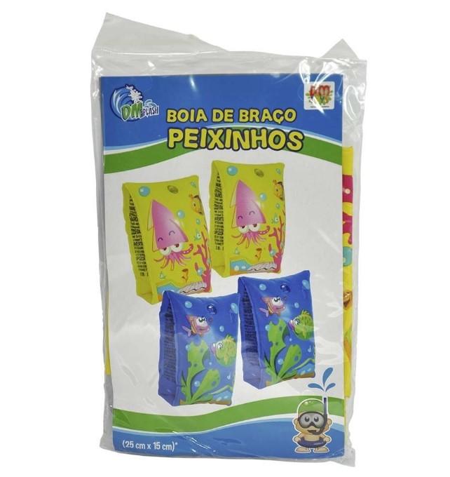 Boia Infantil Aquática de Braço Peixinhos DM Toys