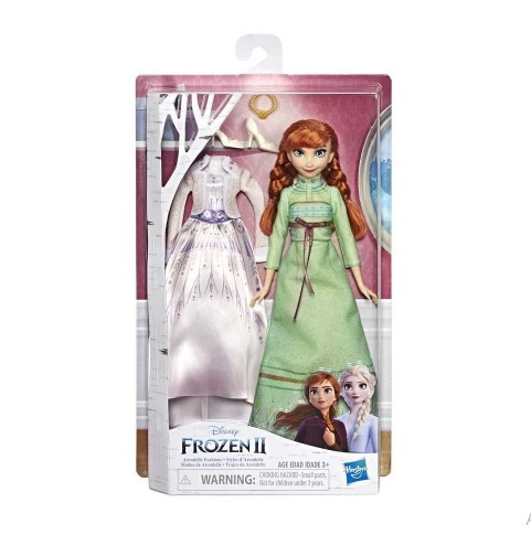 Boneca Articulada Anna Frozen 2 - Troca De Roupa - Hasbro