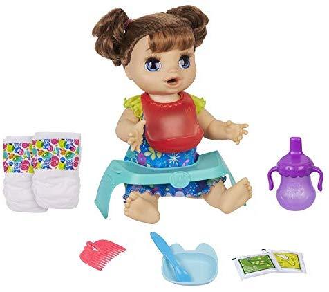 Boneca Baby Alive Comidinha Feliz Morena Hasbro E4895