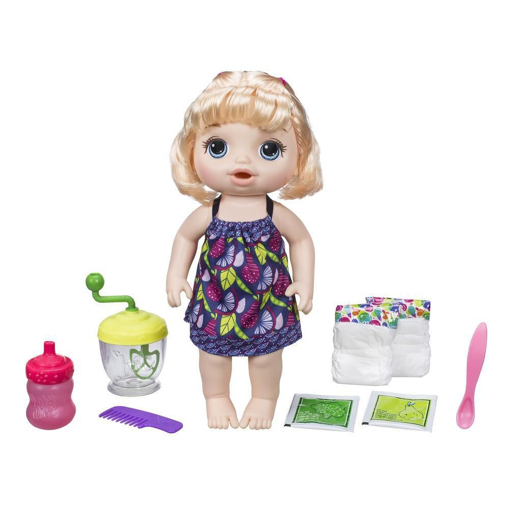 Boneca Baby Alive Papinha Divertida Loira- Hasbro- E0586