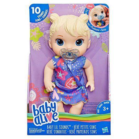 Boneca Baby Alive Primeiros Sons Loira+Mochilinha-Hasbro