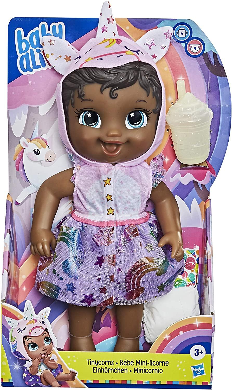 Boneca Baby Alive Tinycorn - Minicórnio Unicórnio Negra - E9166