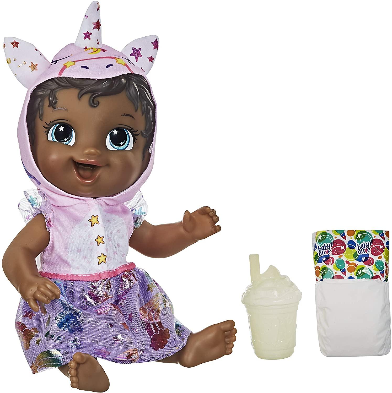 Boneca Baby Alive Tinycorn - Minicórnio Unicórnio Negra - E9166 - Hasbro