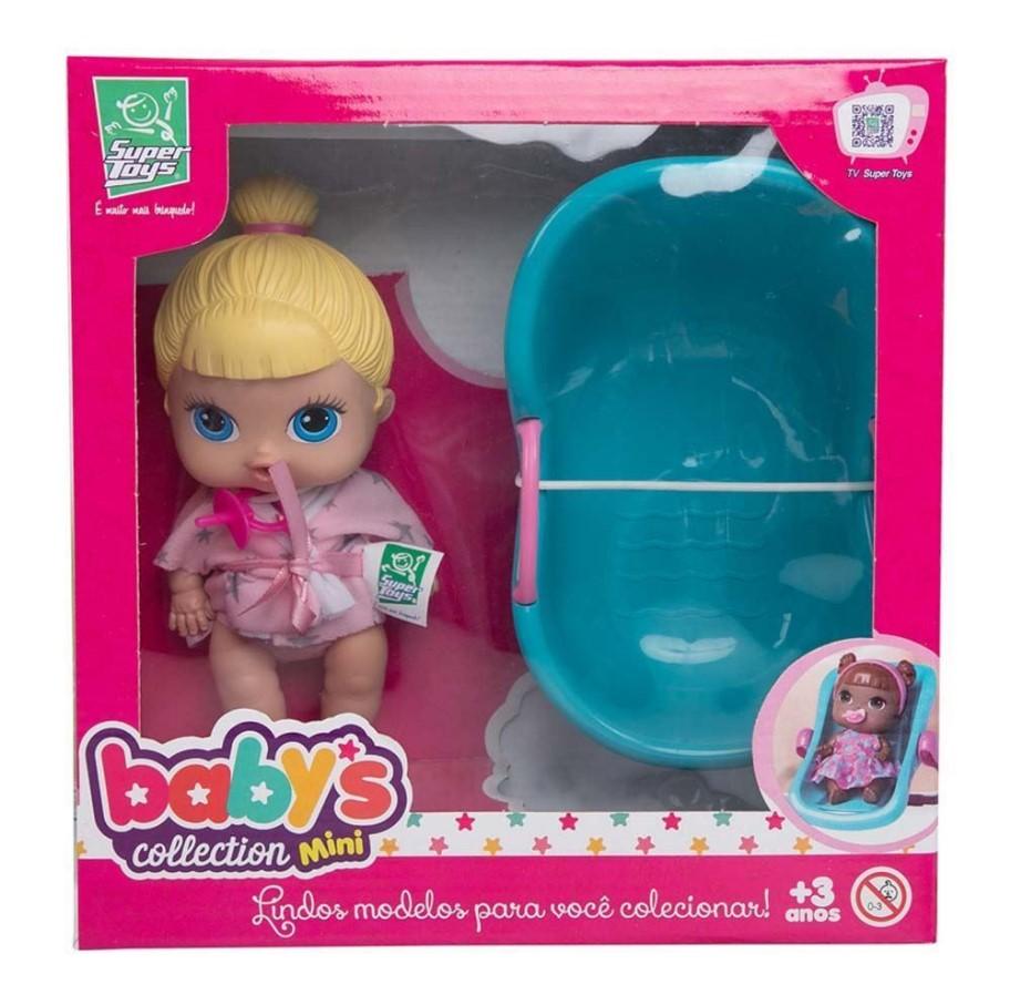 Boneca Baby Mini Super Toys Com Banheira 339