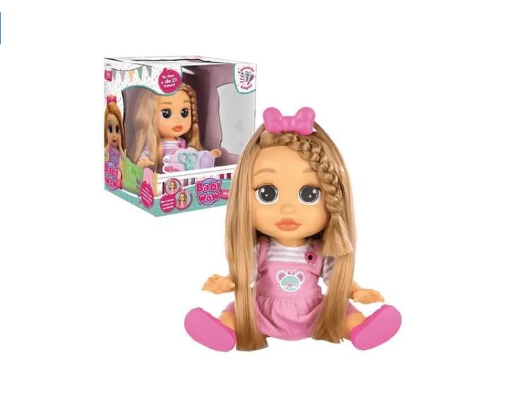 Boneca Baby Wow Mia Fala E Cabelo Cresce Multikids BR543