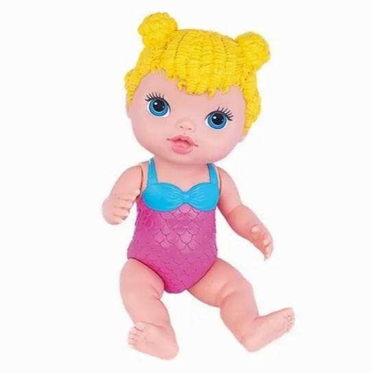 Boneca Babys Collection Linda Sereia Loira Acessorios  421