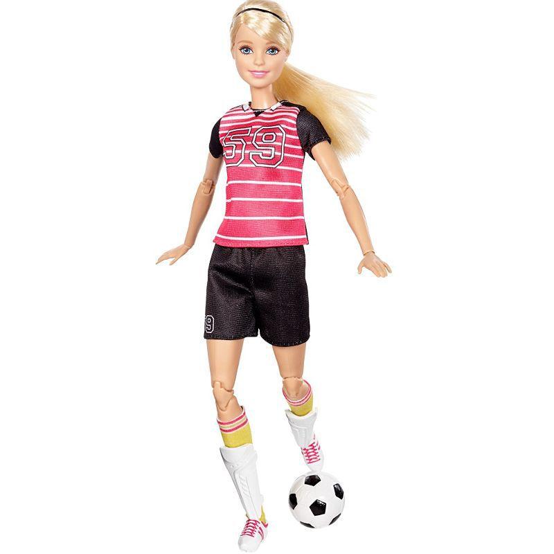 Boneca Barbie Articulada Jogadora de Futebol Mattel DVF68