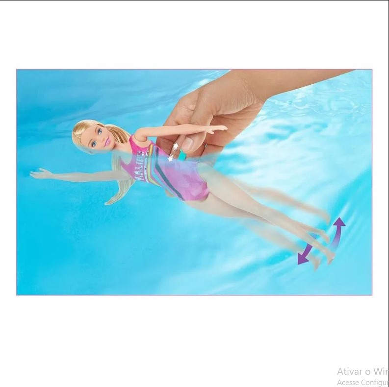 Boneca Barbie Barbie Dreamhouse Adventures Barbie Nadadora Mattel