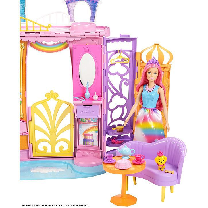 Boneca Barbie Castelo Arco-Íris Dreamtopia -Mattel - FRB15