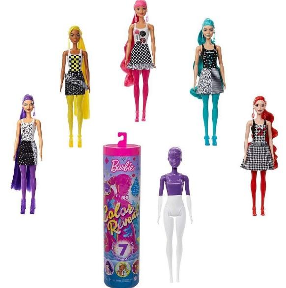 Boneca Barbie Color Reveal 7 Surpresas Mattel gwc56