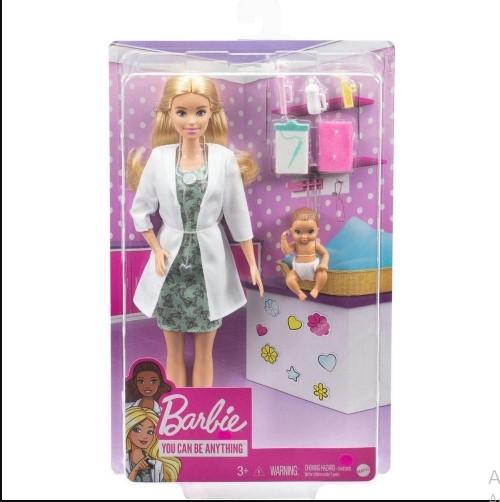 Boneca Barbie Doutora Cuidados Com Bebê 30Cm - Mattel Gyk01
