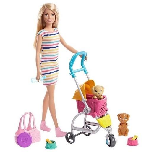 Boneca Barbie Family Carrinho Cachorrinho GHV92 - Mattel
