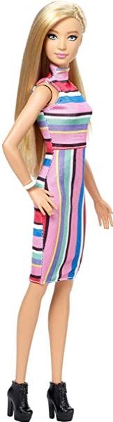 Boneca Barbie Fashionista 68 Loira Candy Stripes Top