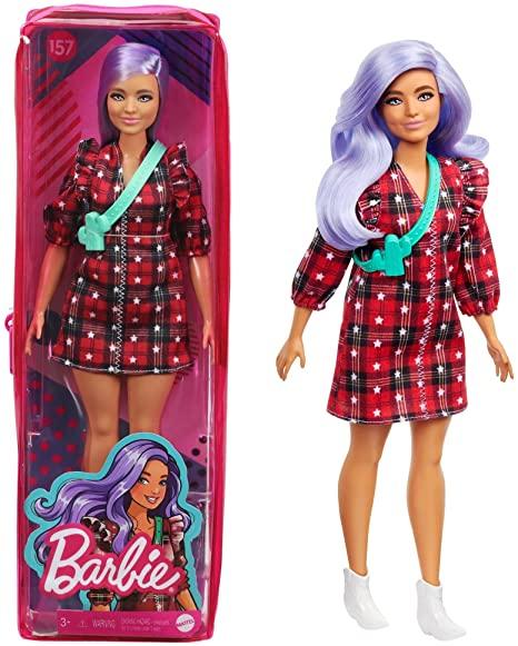 Boneca Barbie Fashionistas 157 cabelo lilás Mattel