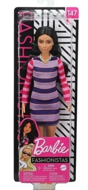 Boneca Barbie Fashionistas Morena 147 - Mattel