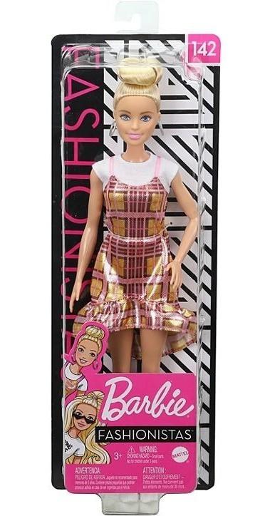 Boneca Barbie Fashionistas Vestido Quadriculado 142