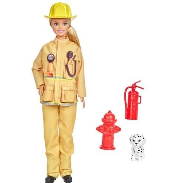 Boneca Barbie Profissões Bombeira GYJ98/GTN83 Mattel
