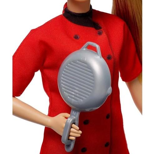 Boneca Barbie Profissões Chef De Cozinha Cozinheira Mattel
