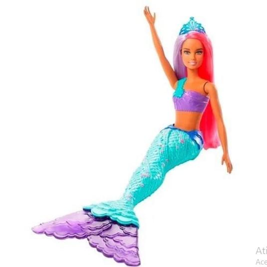 Boneca Barbie Sereia Cauda Azul GJK09 Barbie Dreamtopia Mattel