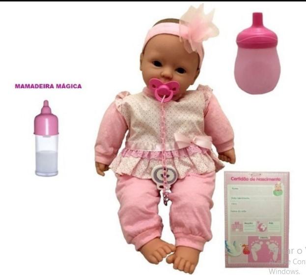 Boneca Bebê Coleção cheirinho de bebe Divertoys