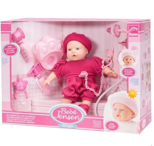 Boneca Bebê Alergia com Acessórios Roma Brinquedos