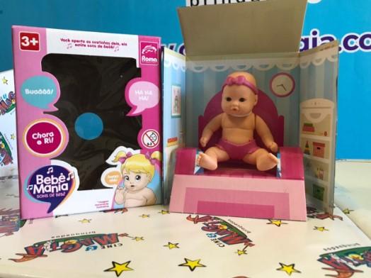 Boneca Bebê Mania - Sons de Bebê - Roma