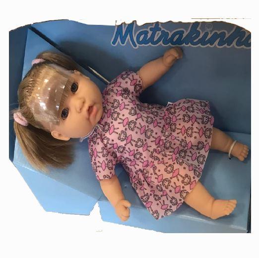 Boneca Bebê Matrakinha Com Cabelo 75 Frases