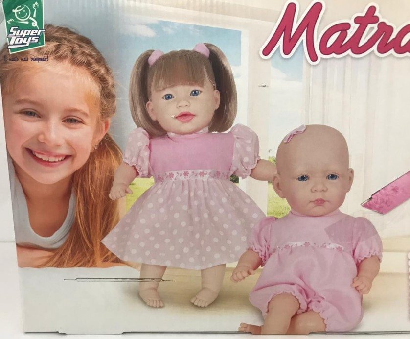 Boneca Bebê Matrakinha  Fala 80 sem cabelo Frases 237 Super Toys
