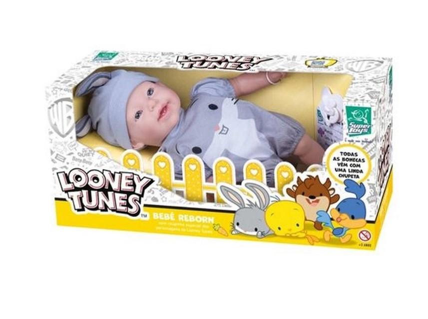 Boneca Bebê Reborn Pernalonga Looney Tunes Baby 441