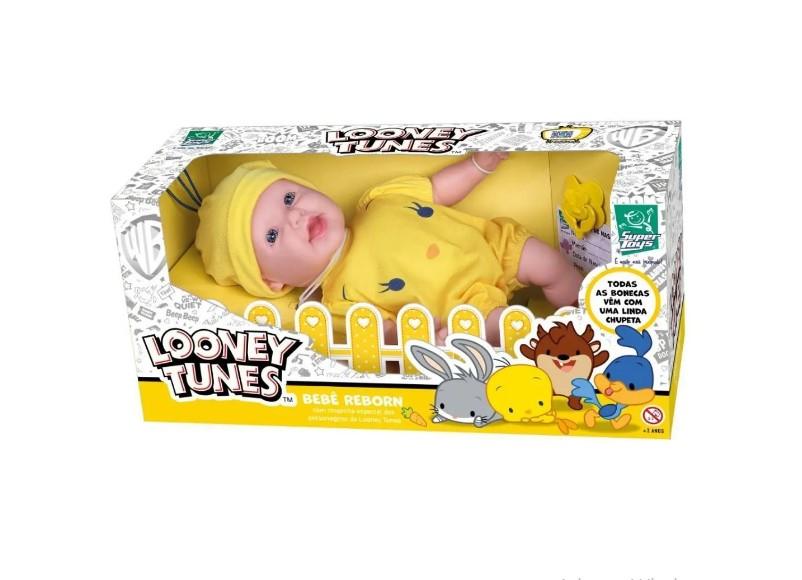 Boneca Bebê Reborn Piu Piu Looney Tunes Lançamento Super Toy Super Toys
