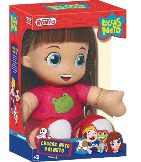 Boneca Gi Neto Pequena Original 15cm Rosita 1076