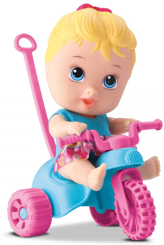 Boneca Little Dolls Playground Triciclo Menina Diver Toys 8110