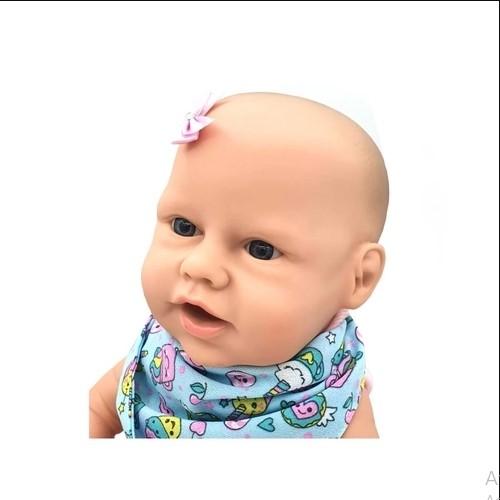 Boneca Bebe Reborn New Born Primeira Papinha Faz Caquinha Com Cadeirão