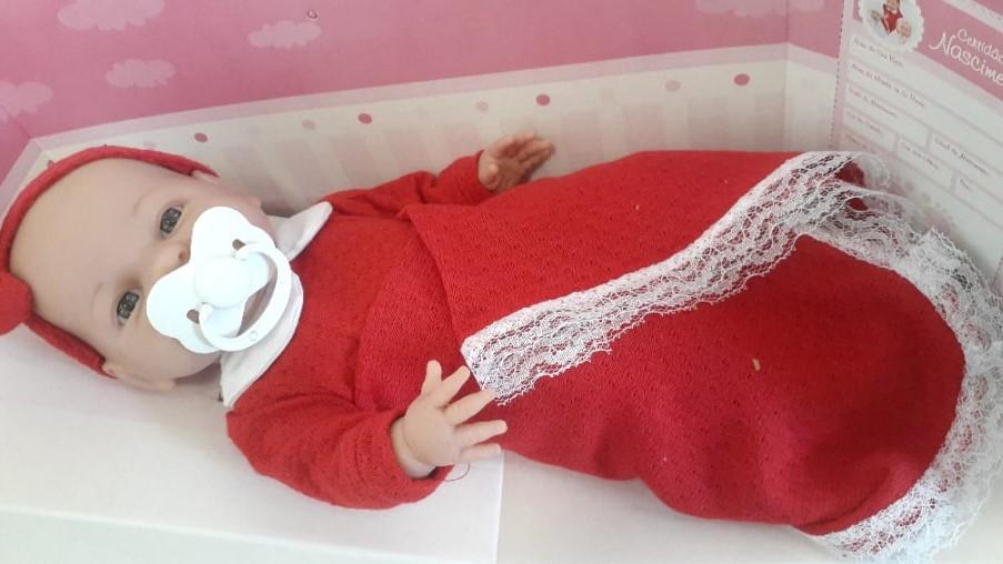 Boneca Roma Babies Saída da Maternidade Vermelha - Roma