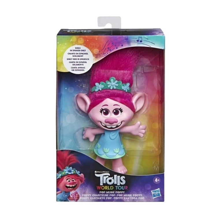 Boneca Trolls Poppy Cantora Pop Hasbro E7219