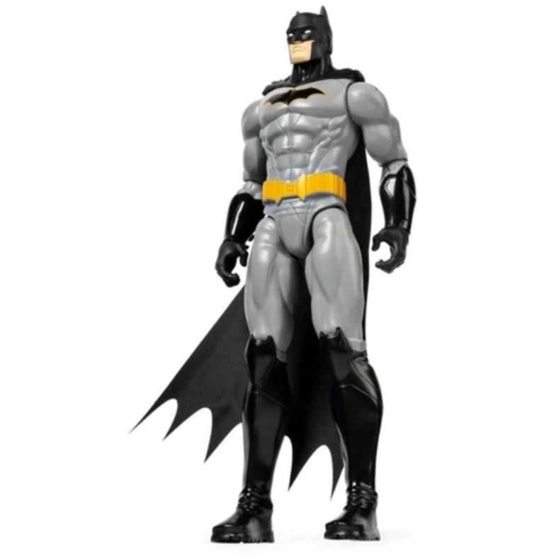 Boneco Batman armadura cinza 2180 DC 30cm - Sunny