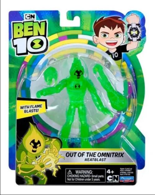 Figura de Ação Ben 10 Articulada Chama Fora do Omnitrix Sunny