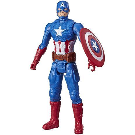 Boneco Capitão América Avengers Blast Gear Hasbro E7877