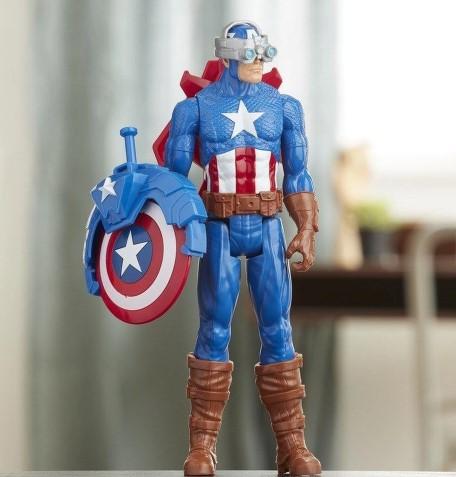 Boneco Capitão América Com Acessórios Hasbro E7374