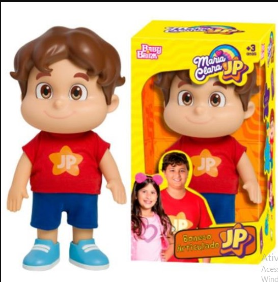 Boneco JP - Maria Clara e JP - Baby Brink
