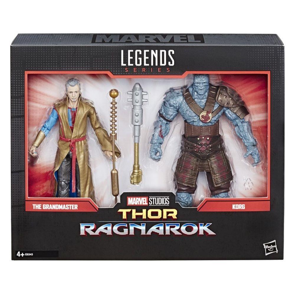 Boneco Legends Series Marvel 80 Anos - The Grandmaster / Korg - Thor Ragnarok