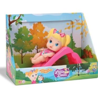 Boneco Little Dolls Playground Menina Com Escorregador