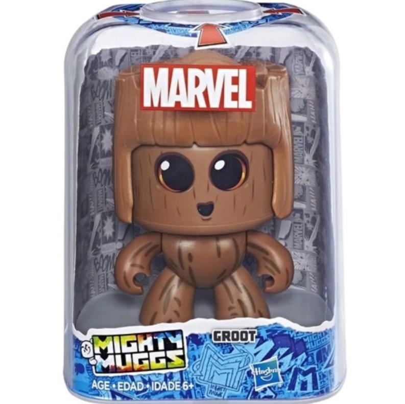 Boneco Marvel Vingadores Mighty Muggs Groot 3 Faces