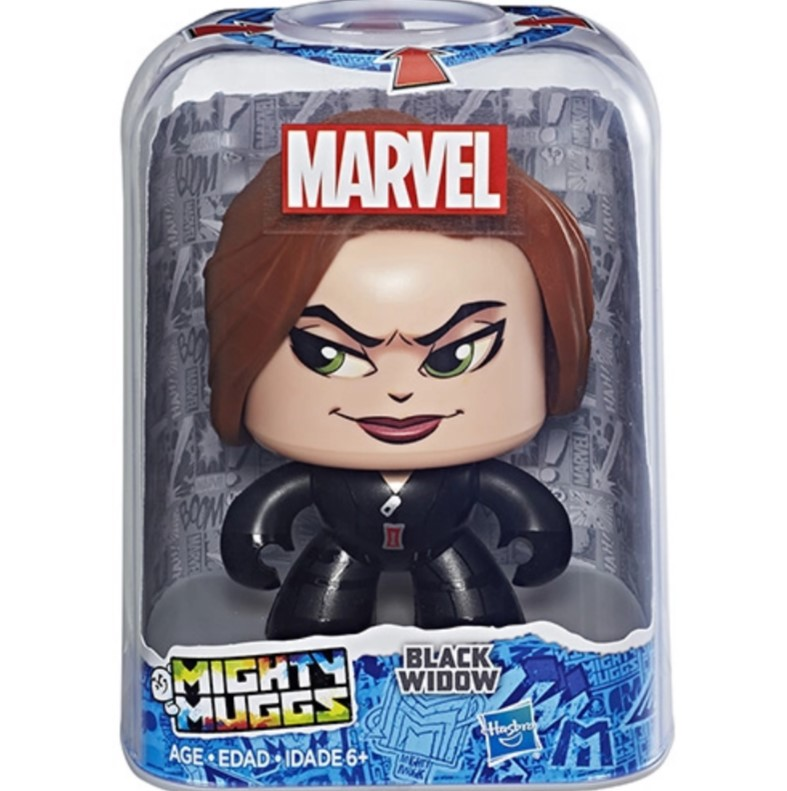 Boneco Mighty Muggs Marvel Viúva Negra - E2122/ E2167 - Hasbro