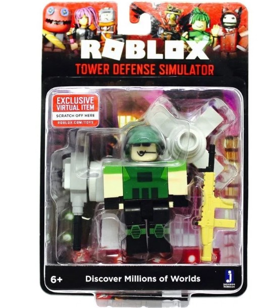 Boneco Roblox - Tower Defense e acessórios + Código Virtual